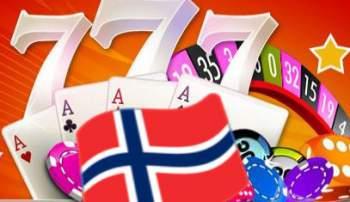 Norsk flagg og casino symboler